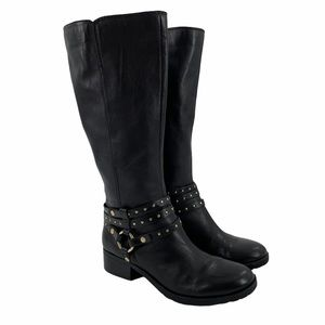 """NINE WEST """"Whatifo"""" Soft Leather Riding Boots 7.5M"""